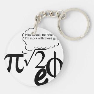 Irrational Buddies Double-Sided Round Acrylic Keychain