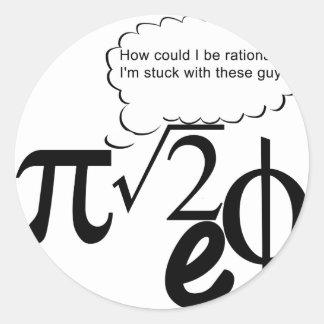 Irrational Buddies Round Sticker