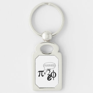 Irrational Buddies Silver-Colored Rectangle Keychain