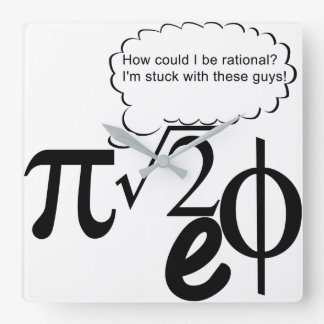 Irrational Buddies Square Wall Clock
