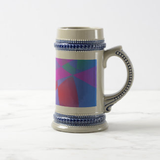 Irregular Forms Light Blue Abstract Coffee Mugs