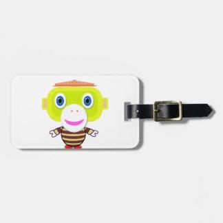 Irresistible-Cute Monkey-Morocko Luggage Tag
