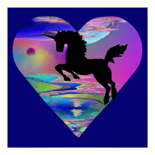 Irresistible Utherworld Unicorn Art Poster