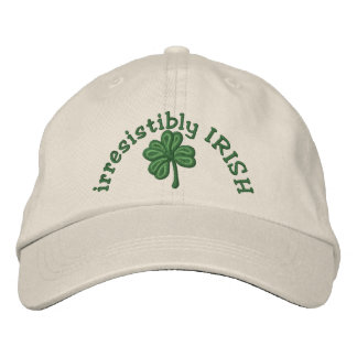 irresistibly Irish - Shamrock Cap Embroidered Baseball Cap