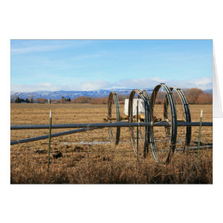Irrigation Pipes in Field Card