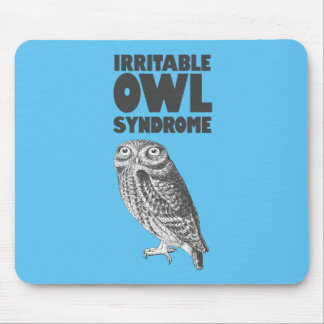 Irritable Owl. Funny pun Mouse Pad