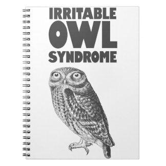 Irritable Owl. Funny pun Notebook
