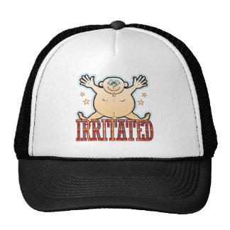 Irritated Fat Man Trucker Hat