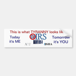 IRS Scandal 2013 Bumper Stickers