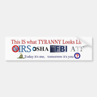 IRS Scandal 2013 Bumper Stickers