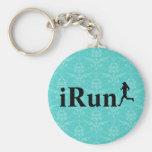 iRun Around Humourous Running Keychain for Girls