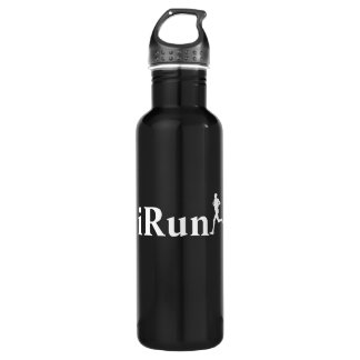 iRun Black & White for Men 710 Ml Water Bottle