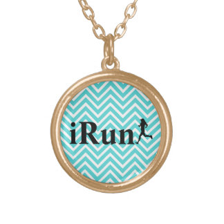iRun Blue Chevron Necklace for Women