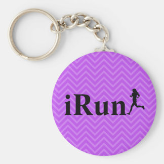 iRun Chevron Running Keychain for Girls