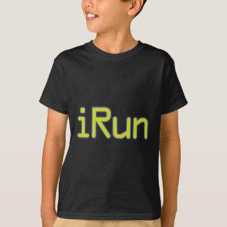 iRun - Lime (Blue outline) T-Shirt