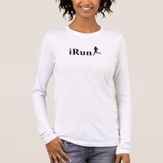 iRun Pink Running Long Sleeve Shirt for Women
