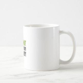 irun to burn off the crazy coffee mug