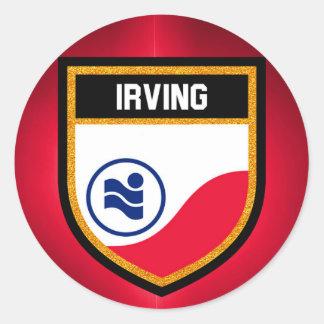 Irving  Flag Classic Round Sticker