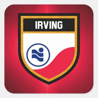 Irving  Flag Square Sticker