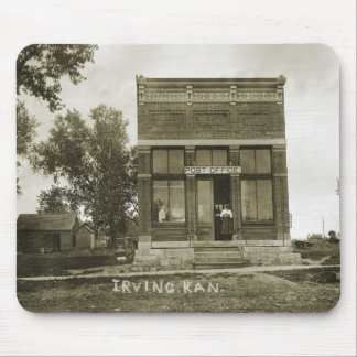 IRVING KANSAS POST OFFICE PHOTO MARSHALL COUNTY KS MOUSE PAD