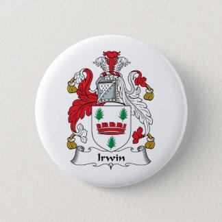 Irwin Family Crest 2 Inch Round Button