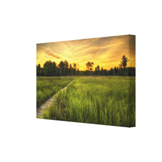 Irwin Prairie Boardwalk Sunset Canvas Print