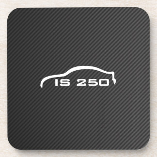IS250 White Silhouette with Faux Carbon Coaster