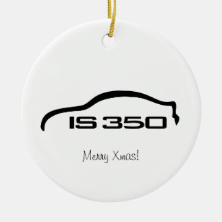IS350 Black Silhouette Logo with Faux Carbon Ceramic Ornament
