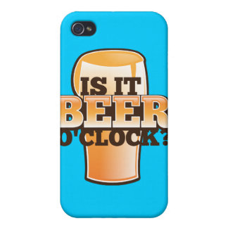 Is it BEER o'clock time related alcohol design Cover For iPhone 4