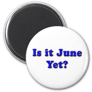Is it June? (Blue) Magnet
