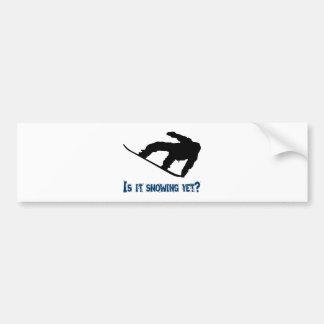 Is it Snowing Yet? - Snowboarding Bumper Sticker