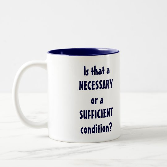 Is That A Necessary Or...lg navy 2tone(right-hand) Two-Tone Coffee Mug