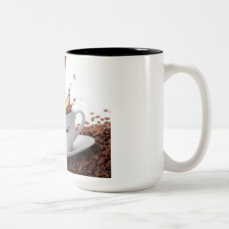 Is There Life Before Coffee? Two-Tone Coffee Mug