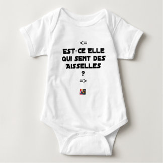 IS THEY IT WHICH FEELS ARMPITS? - Word games Baby Bodysuit