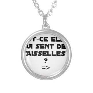 IS THEY IT WHICH FEELS ARMPITS? - Word games Silver Plated Necklace