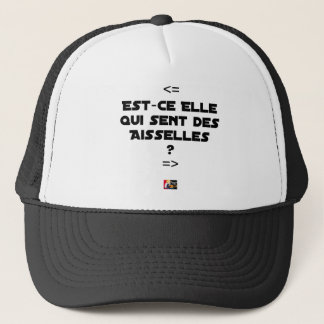 IS THEY IT WHICH FEELS ARMPITS? - Word games Trucker Hat