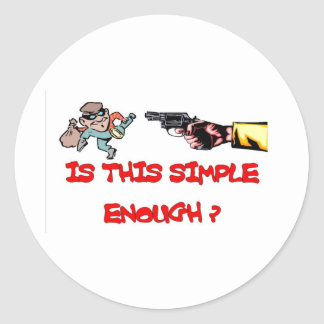 Is this simple enough classic round sticker