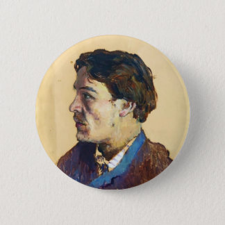 Isaac Levitan- Portrait of writer Anton Chekhov 2 Inch Round Button