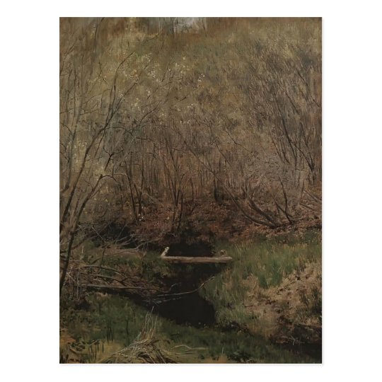 Isaac Levitan- Spring in the Forest Postcard