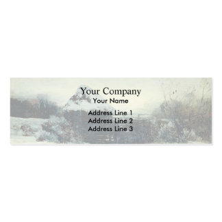 Isaac Levitan- Winter landscape with mill Business Card Templates