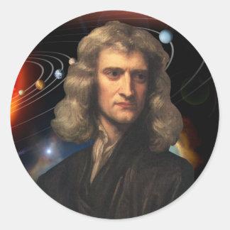 Isaac Newton Classic Round Sticker