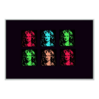 Isaac Newton Collage Poster
