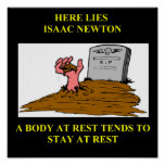 isaac newton joke print