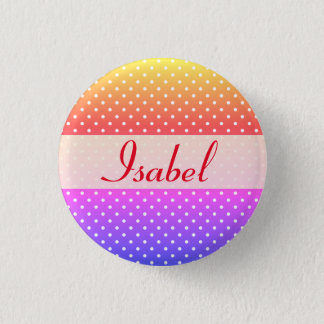 Isabel name plate Anstecker 1 Inch Round Button