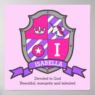 Isabella Name Art Wall Décor Zazzleca