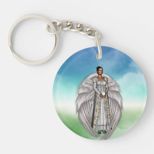 Isabella in the Clouds Keychain