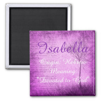 Isabella Name Meaning Magnet Purple Whimsical Tree