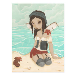 Isabella - Pirate Mermaid Post Card