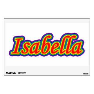 Isabella - Rainbow - On White Wall Decal