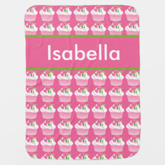 Isabella's Personalized Cupcake Blanket
